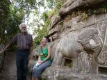 With Alberto Gutierrez, amazing rock carver, El Jalacarte, Esteli, Nicaragua