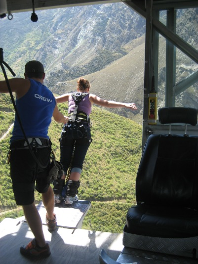 My first Bungee! Nevis Highwire 134m, Queenstown, New Zealand