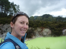 The Shrek-green volcanic pools of Wai-O-Tapu, New Zealand