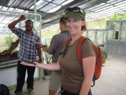 Playing with the giant scorpions, Cameron Highlands, Malaysia