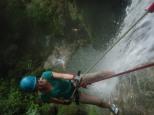 Abseiling a 100m waterfall, Vanuatu