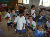 Chilling with the kindergarteners, Cook Islands
