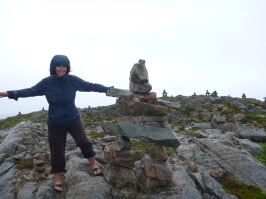 Inukshuks leading the way for Cabot, Cape Bonavista, Canada
